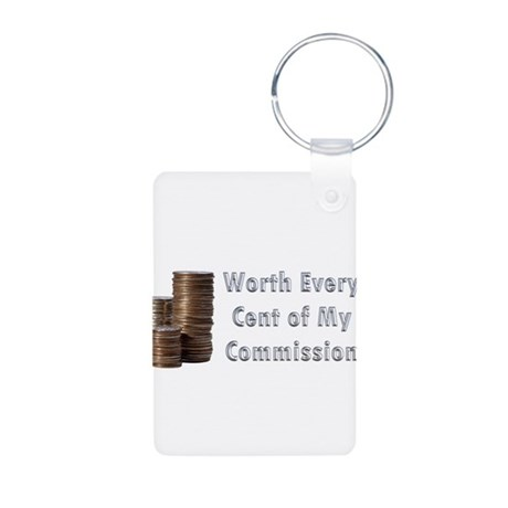 Worth Every Cent Aluminum Photo Keychain