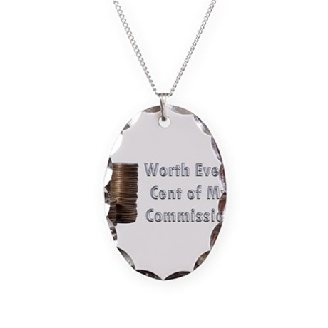 Worth Every Cent Necklace Oval Charm