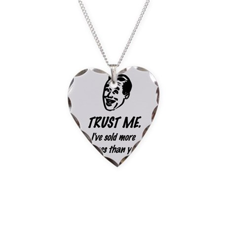Trust Me Male Necklace Heart Charm