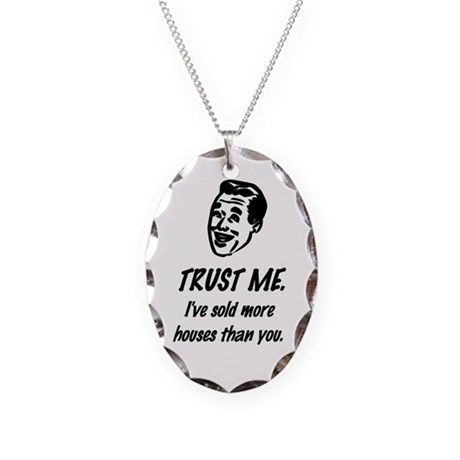 Trust Me Male Necklace Oval Charm