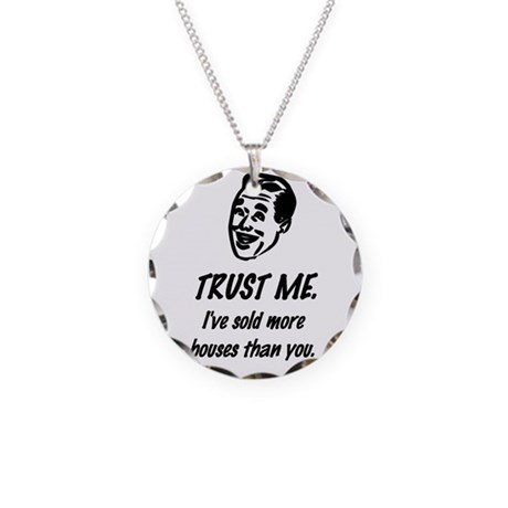 Trust Me Male Necklace Circle Charm
