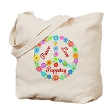Puppetry Peace Sign Tote Bag