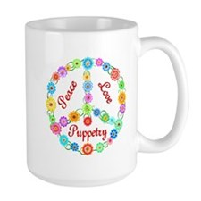 Puppetry Peace Sign Mug