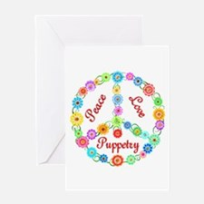 Puppetry Peace Sign Greeting Card