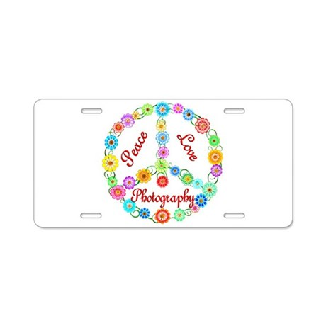 Photography Peace Sign Aluminum License Plate