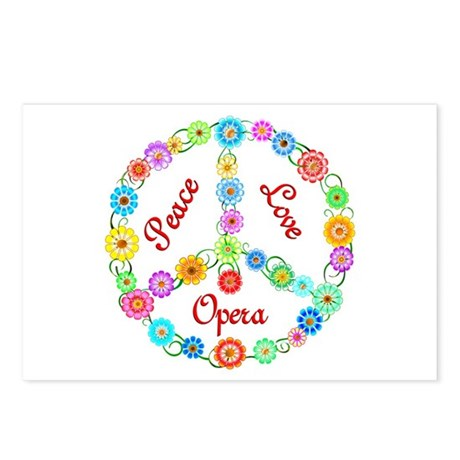 Opera Peace Sign Postcards (Package of 8)