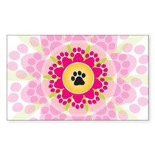Paw Prints Flower Decal