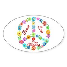 Line Dancing Peace Sign Decal