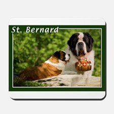 St Bernard-1 Mousepad