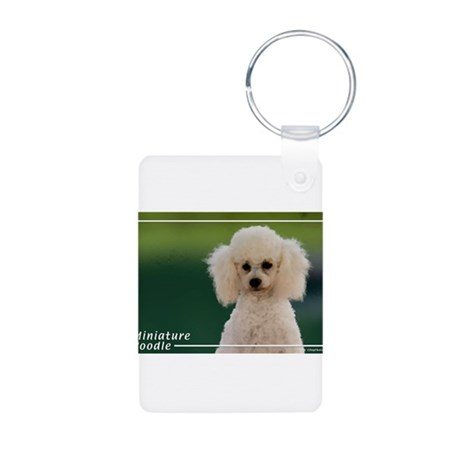 Miniature Poodle-9 Aluminum Photo Keychain