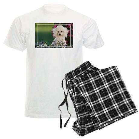 Miniature Poodle-4 Men's Light Pajamas