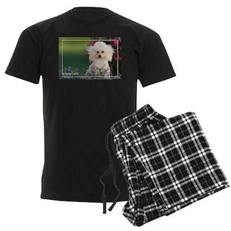Miniature Poodle-4 Men's Dark Pajamas