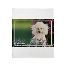 Miniature Poodle-4 Throw Blanket
