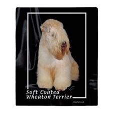 soft coated wheaton terrier Throw Blanket