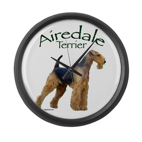 Airfedale Terrier-2 Large Wall Clock