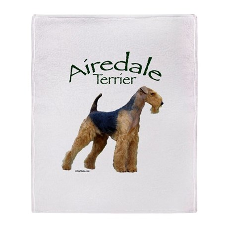 Airfedale Terrier-2 Throw Blanket