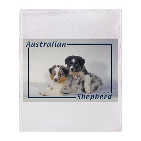 Australian Shepherd-2 Throw Blanket