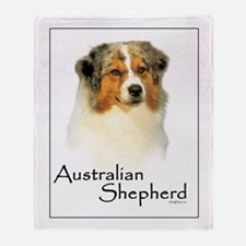 Australian Shepherd-1 Throw Blanket