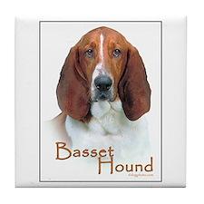 Basset Hound Tile Coaster