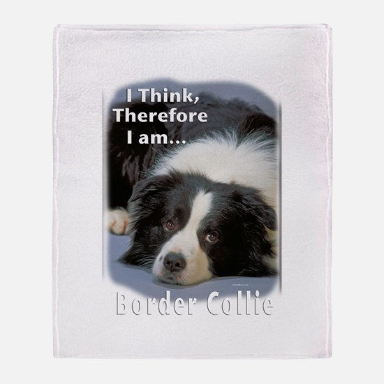 Border Collie-3 Throw Blanket