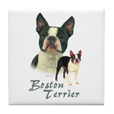 Boston Terrier-2 Tile Coaster