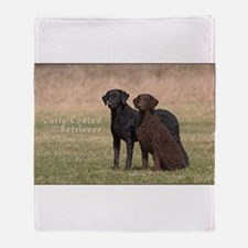 Curly Coated Retriever-5 Throw Blanket