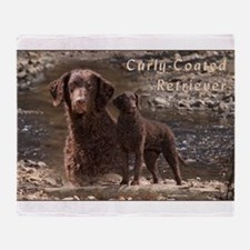 Curly Coated Retriever-3 Throw Blanket