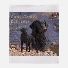 Curly Coated Retriever-2 Throw Blanket