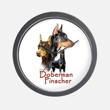 Doberman Pincher-1 Wall Clock