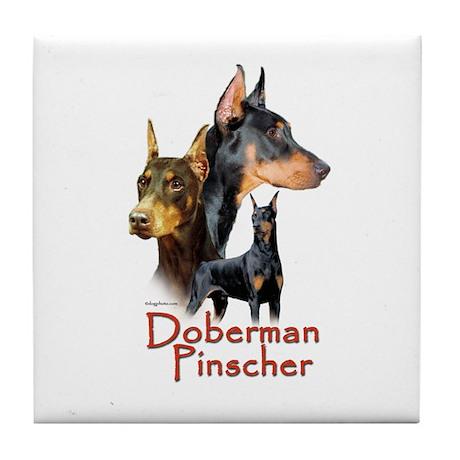 Doberman Pincher-1 Tile Coaster