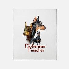 Doberman Pincher-1 Throw Blanket