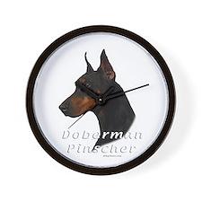 Doberman Pincher-2 Wall Clock