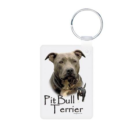 Pit Bull Terrier Aluminum Photo Keychain