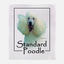 poodle-4 Throw Blanket