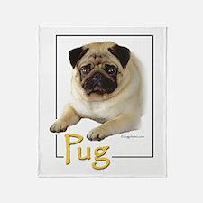 Pug-1 Throw Blanket