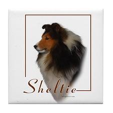 Sheltie-1 Tile Coaster