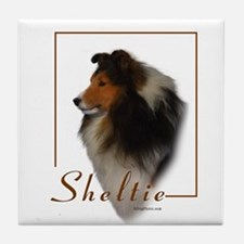 Sheltie-1 Tile Coaster