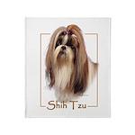 Shih Tzu-2 Throw Blanket
