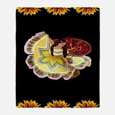 Mexican Quinceanera Throw Blanket