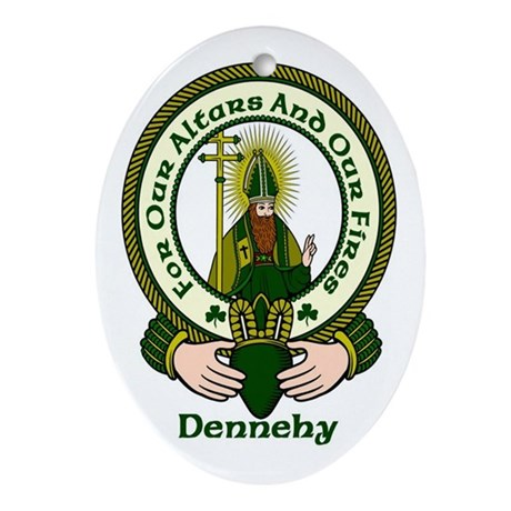 Dennehy Clan Motto Ornament (Oval)
