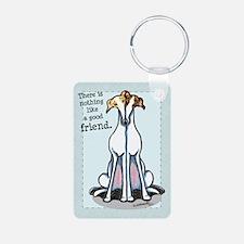 Good Friend Greyhound Keychains