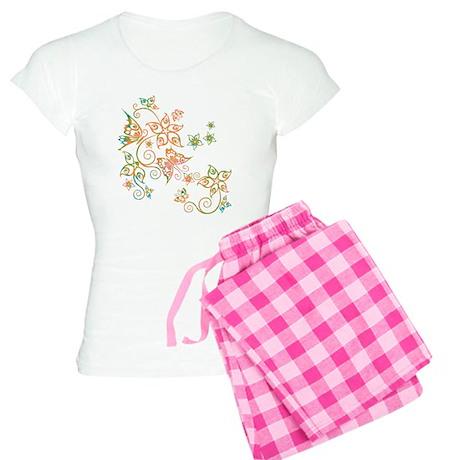 Flowers & Butterflies Women's Light Pajamas