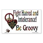 Be Groovy Tie Dye Art Rectangle Sticker