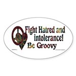 Be Groovy Tie Dye Art Oval Sticker