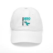 Ovarian Cancer Hero Wife Baseball Cap