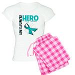 Ovarian Cancer Hero Teacher Women's Light Pajamas