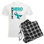 Ovarian Cancer Hero Teacher Men's Light Pajamas