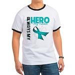 Ovarian Cancer Hero Teacher Ringer T