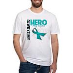 Ovarian Cancer Hero Teacher Fitted T-Shirt