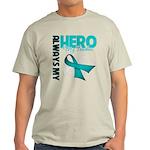 Ovarian Cancer Hero Teacher Light T-Shirt